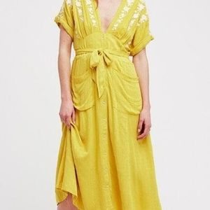 FreePeople Love to Love You Embroidered Midi Dress